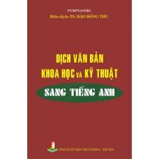 Dịch văn bản khoa học kỹ thuật sang tiếng Anh